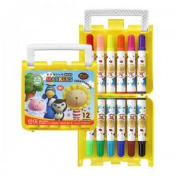 奶油獅彩色筆 果凍塑盒系列
