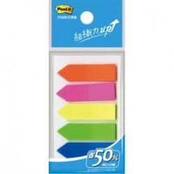 3M 584-5 利貼 可再貼 箭頭螢光標籤 (五色)