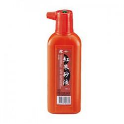 吳竹 紅硃砂液 書法國畫專用 (紅蓋) 180cc