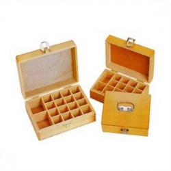 鐵人 桌上木製印章盒