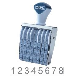 COX三燕 號碼印/1號/8連/ 60mm