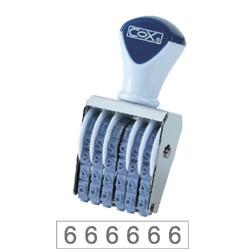 COX三燕 號碼印/3號/6連 字體高度 4.4mm