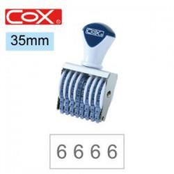 COX三燕 號碼印/4號/8連/ 35mm