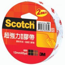 3M 669 超強力棉紙雙面膠帶 5y 12/24/36mm