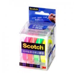 3M Scotch NO.812 4色可再貼螢光標示膠帶台