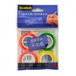 3M Scotch NO.812R4 可再貼螢光補充膠帶替換 4入裝