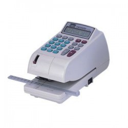 LIFE徠福 LC-600 10位數 電子支票機 (阿拉伯數字) (手動夾紙.附計算機功能)