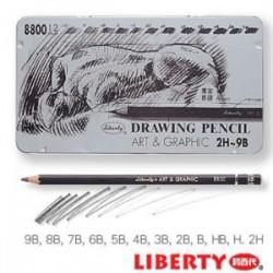 利百代 CB-8800 素描製圖鉛筆組 (盒裝12支入)