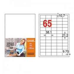 龍德 LD-806-W-C三用電腦標籤A4-65格-白20張包