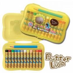 SIMBALION雄獅 奶油獅 BLOP-12 小支12色粉蠟筆