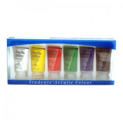 MONA蒙娜 25ml壓克力水彩顏料 6色組