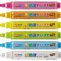 成功 螢光彩繪筆 1240-6 (6色組)