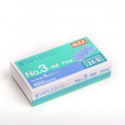 MAX美克司 No.3-1M (24/6) 釘書針(3號)