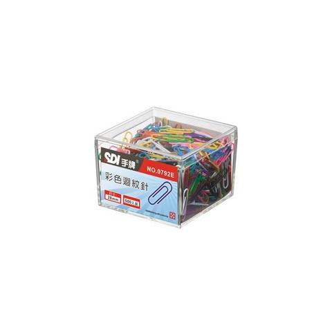 SDI手牌 彩色迴紋針 0792E / 28mm (500入/盒)