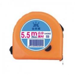LIFE徠福 5.5米彩色鋼捲尺NO.4092/英吋公分
