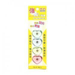 成功 愛心型磁鐵 NO.21323 (4入)
