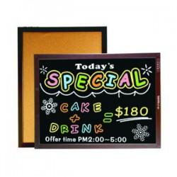成功 雙面木框軟木鏡面黑板(彩繪板) 2種尺寸(45x60cm/60x85cm) 015210/020310