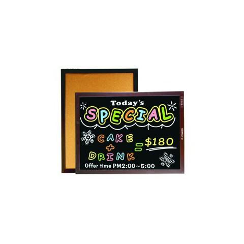 成功 雙面木框軟木鏡面黑板(彩繪板) 2種尺寸(45x60cm /60x85cm) 015210/ 020310