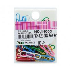 足勇 NO.11003 彩色迴紋針 28mm 60支/盒