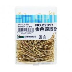 足勇 NO.22017 金色迴紋針 28mm 200支/盒