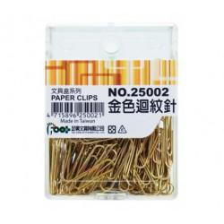 足勇 NO.25002 金色迴紋針 28mm 140支/盒