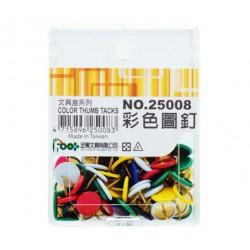 足勇 NO.25008 彩色圖釘 70支/盒