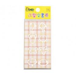 足勇 NO.35002 造型文書夾 12包/排
