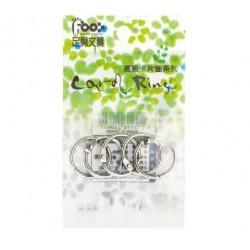 """足勇 NO.52062 吊袋高級卡片圈 (金屬) 1""""(2.7cm) 5個/包"""