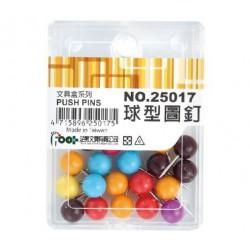 足勇 NO.25017 球型圖釘 21支/盒