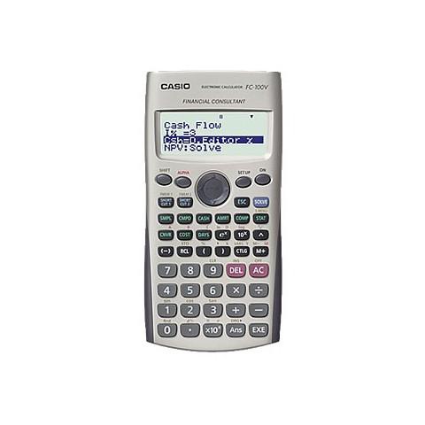 [公司貨2年保固]CASIO 計算機 FC-100V原 基本型,具有基本函數計算/單/複利計算/價格/成本/利潤計算/投資評估等功能。