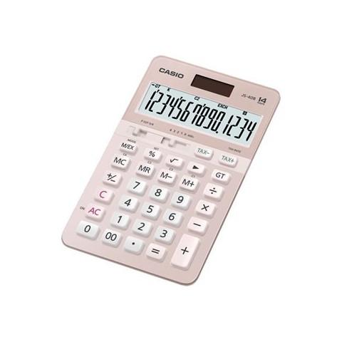 [公司貨2年保固]CASIO 計算機 JS-40B-PK 櫻花機,14位數專業型機種