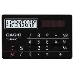 [公司貨2年保固]CASIO 計算機 SL-760LC-BK 國家考試專用機8位數/名片型設計共有黑色/金色可供選擇