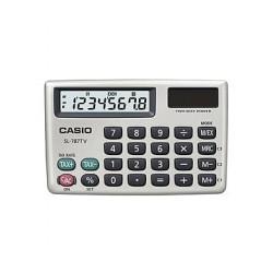 [公司貨2年保固]CASIO 計算機 SL-787TV 8位數/金屬面板/大型顯示幕