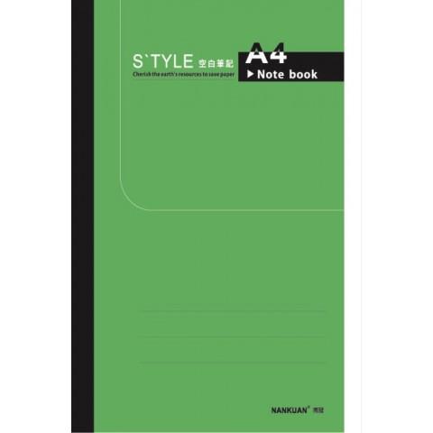 南冠 13K綠皮定頁筆記-空白 29.5x20.9cm 40頁