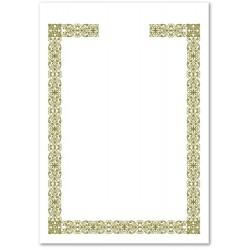 南冠 A4直式開口燙金獎狀紙 29.7x21cm 10入