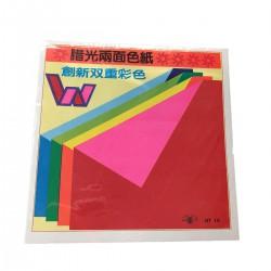 雙面蠟光色紙 15.2 x15.2cm 約18張/包
