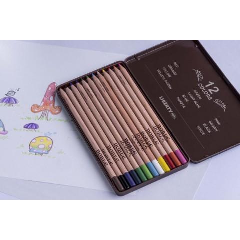 利百代 CC-912 原木色鉛筆12色(鐵盒)