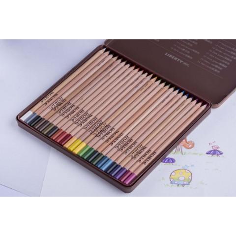 利百代 CC-924 原木色鉛筆24色(鐵盒)