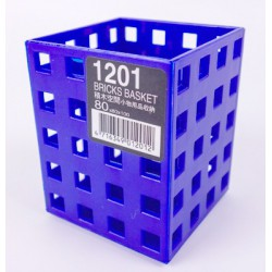 積木空間 K1201 積木藍/筆筒 8x8x10cm