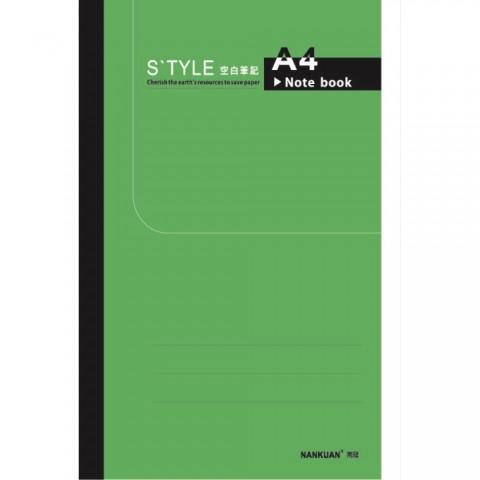 南冠 18K綠皮定頁筆記-空白 25.2x17cm 40頁