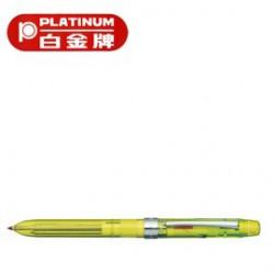 [畢業禮物][免費刻字]PLATINUM 白金牌 MWB-500RS(MWB-180RS) 按壓式3功能筆/支