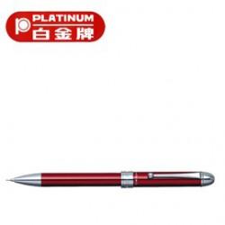 [畢業禮物][免費刻字]PLATINUM 白金牌 MB-1000C(MB-350) 按壓式3功能筆/支