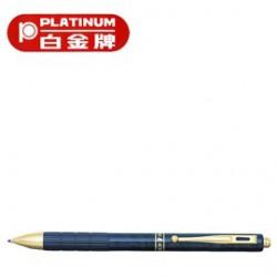 [畢業禮物][免費刻字]PLATINUM 白金牌 MWB-5000RM(MB-1300B) 按壓式4功能筆/支