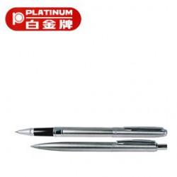 [畢業禮物][免費刻字]PLATINUM 白金牌 WAT-150 0.5mm鋼珠筆&BAT-150 0.7mm原子筆 2支入對筆/組