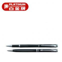 [畢業禮物][免費刻字]PLATINUM 白金牌 WKN-250 0.5mm鋼珠筆&BKN-250 原子筆 2支入對筆/組