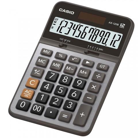 [公司貨2年保固]CASIO 計算機 AX-120B 12位數/金屬面板/大型顯示幕