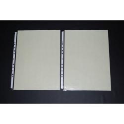 鼎盛 603 A3-11孔 PP真珠條內頁附紙 白邊內頁 透明資料袋 (10張/包)