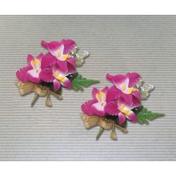畢業胸花 三朵石斛蘭緞帶花
