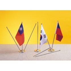 桌上型小國旗(三支交叉旗桿+座)(不含國旗)