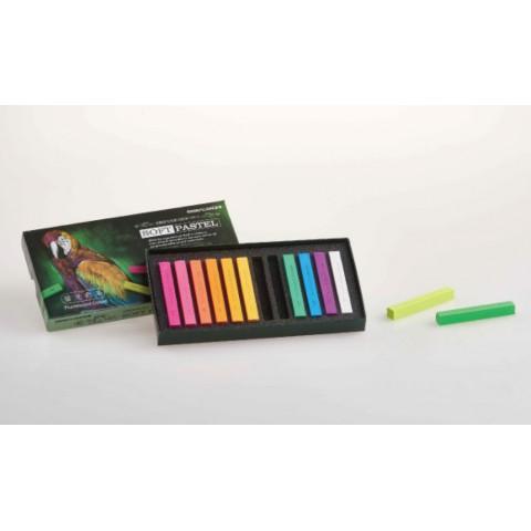 雄獅螢光色軟式粉彩 12色 FSP-12